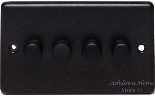G&H CG14 Standard Plate Graphite 4 Gang 1 or 2 Way 40-400W Dimmer Switch